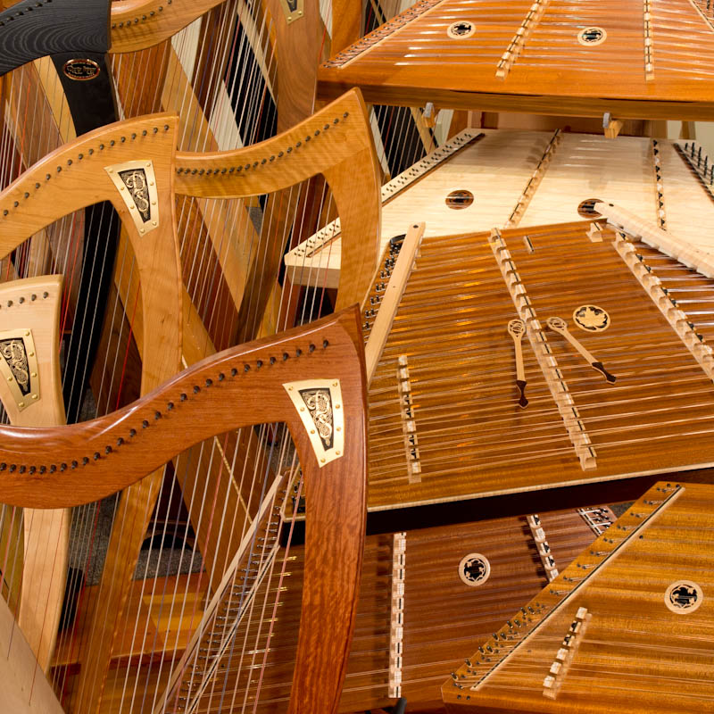 Click to go to our Harps and Hammered Dulcimers home page